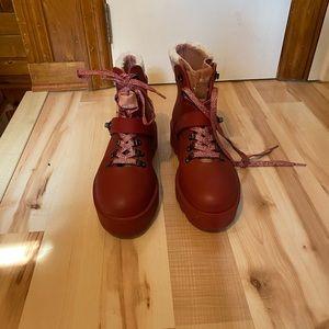 Coach urban hiker rubber Booties NWOT